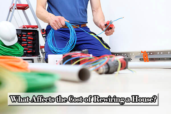 average cost to rewire a house